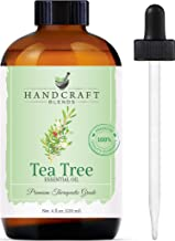 Handcraft Tea Tree Essential Oil - 100% Pure and Natural - Premium Therapeutic Grade with Premium Glass Dropper - Huge 4 f...