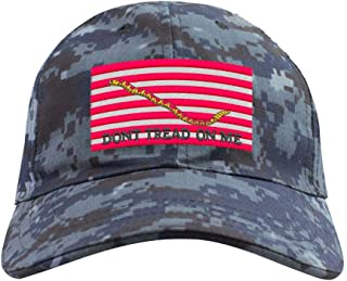 Navy Jack Flag Don't Tread on Me Veteran Embroidered Operator Cap