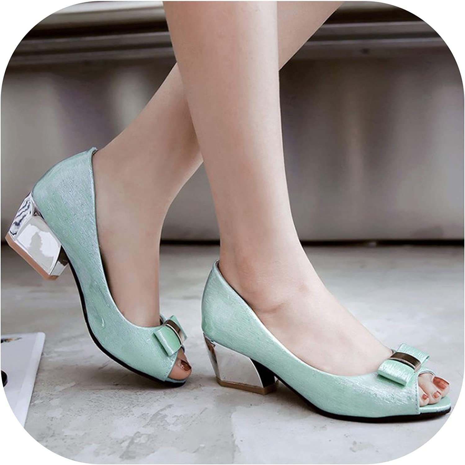Sweet and Sexy Fish Mouth Sandals Fashion Bow shallowly Black Pink bluee with Women's shoes
