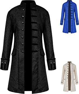 Men's Steampunk Jackets Gothic Cosplay Tailcoat Long Sleeve Medieval Costume Jackets