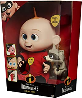 The Incredibles 2 Amazing Lovable Jack-Jack Equipped with Lights and Sounds Comes with Toy Raccoon