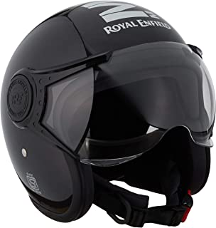 Royal Enfield Gloss Black Open Face with Visor Helmet Size (L)60 CM (RRGHEH000029)