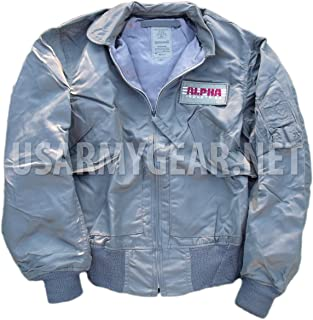 Made in USA New ALPHA US Air Force CWU 36/P Lightweight Mil-Spec Jacket S
