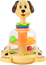 Toy To Enjoy Push & Spin Dog Toy - Easy Press Button Ideal for Fine Motor Skill Development and Learning Activity - Great for Infants Toddlers 12 Months and Up
