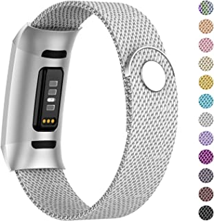 Adepoy Compatible for Fitbit Charge 3/Charge 4 Bands,Replacement Wristbands Compatible for Charge 3 SE Fitness Activity Tr...