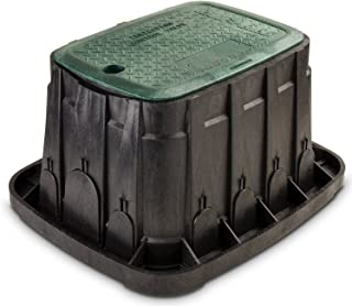 "Rain Bird VBREC12 Sprinkler Valve Box with Green Lid, Rectangle, 12"""