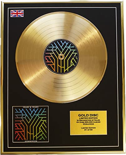 Everythingcollectible Years and Years Edition Limitee Cadre Disque d'or CD Vinyle Communion