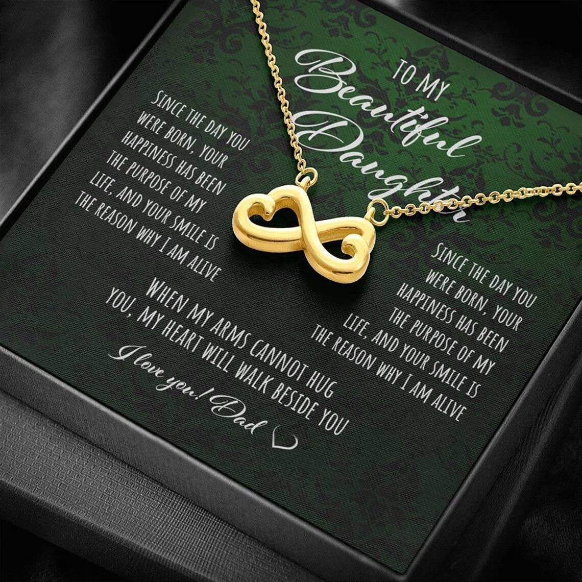iWow Max 66% OFF Customized Daughter Gift from Dad Selling and selling Necklace Heart Infinity