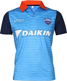 IPL Cricket DC 2019 Jersey Supporter T Shirt Pant 17 Custom Print Name No Delhi Capitals Uniform