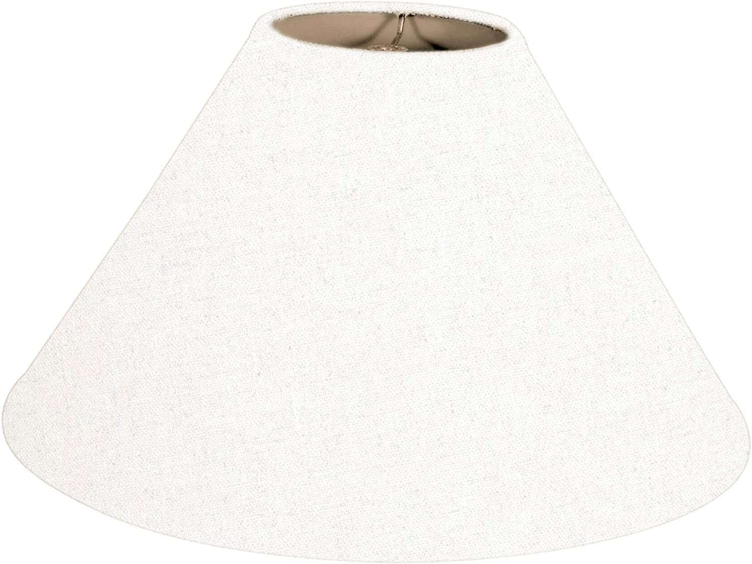 Royal Designs Coolie Empire low-pricing Hardback Outstanding White Linen 4. Shade Lamp