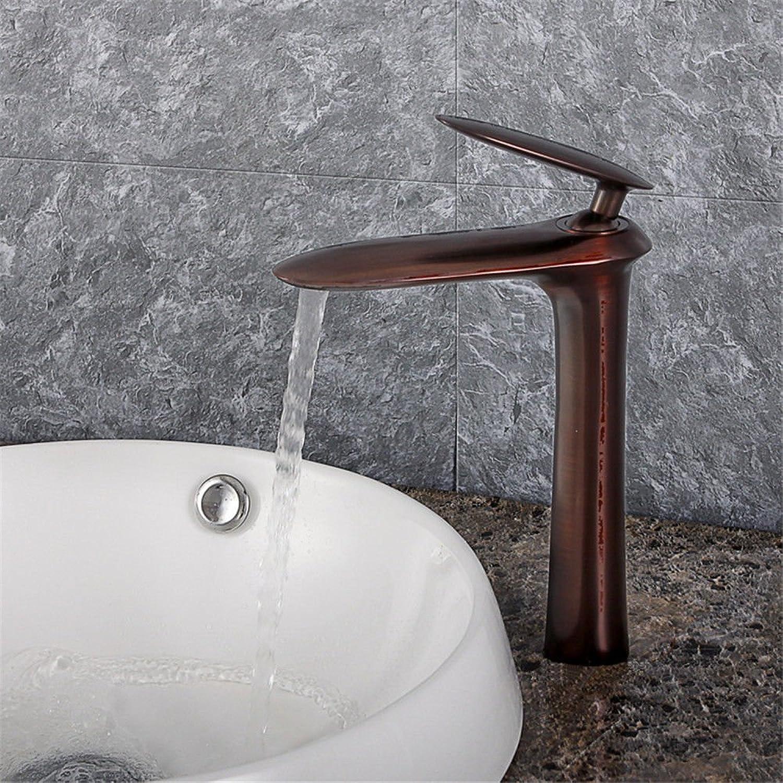 Moderne einfache kupferne heie und kalte Wasserhhne Küchenarmatur Volle Kupferwaschbecken über Aufsatzbecken Wasserhahn heier und kalter Mischwasser-Waschtischmischer Geeignet für alle Badezimmer-