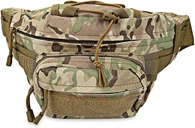 Multi-Function Camouflage Waist Pack Wear-Resistant Nylon Bag Military Men Chest Bags Mountaineering