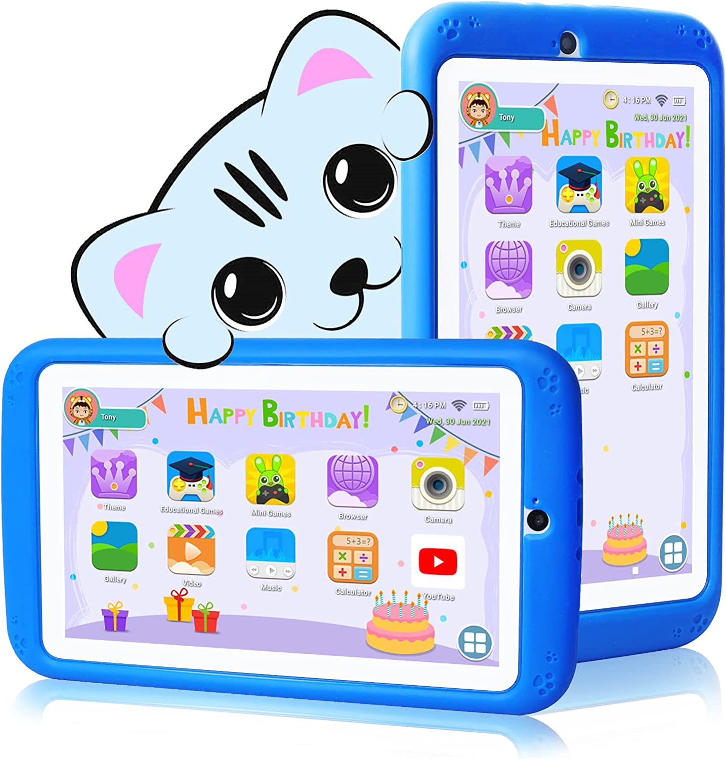 Kids Tablet 7 inch Android 2021new shipping free 10.0 - Qu Case Cheap sale for with