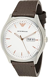 Emporio Armani Men's AR1999 Dress Brown Leather Quartz Watch