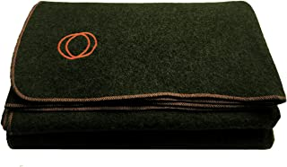 "Orion Outpost Trading Co. Vestige Military Wool Blanket, 4+ lbs, We Donate 1 Blanket for Every 5 Sold, 66"" x 84"""