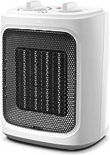 VIY Calefactor Eléctrico Cerámico, PTC 2000W, Oscilación Automática de 30 ° y Termostato Regulable, Protección sobrecalentamiento, Sensor Antivuelco (Plata)