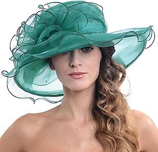 Womens Kentucky Derby Church Dress Fascinator Bridal Organza Tea Party Wedding Hat