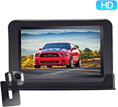 HD 720P Backup Camera and Monitor One Power Kit for Cars,Campers,Trucks Easy Installation Driving/Reversing High-Speed Observation Parking Asistance System