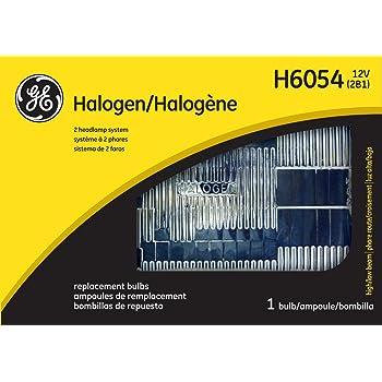 GE Standard H6054 OEM Halogen Replacement Headlight Bulb, (1 Pack)