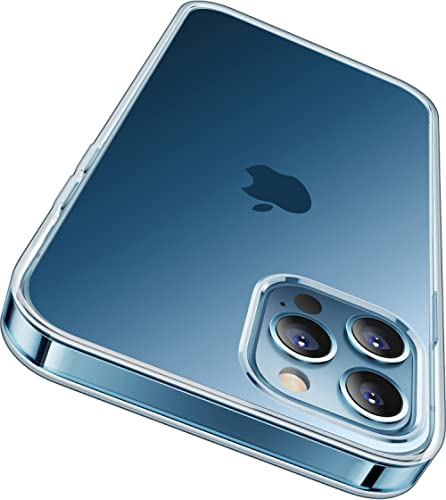 RANVOO Crystal Clear Designed for iPhone 12 Pro Max Case - with 2 Glass Screen Protectors, [Never Yellowing] Protecti...