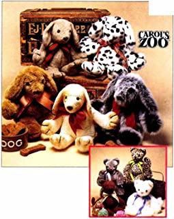 McCall's 8550 Sewing Pattern Carol's Zoo Cat Puppy Stuffed Animals Toys