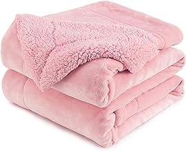 Anjee Sherpa koc polarowy, dwustronny, super miękki, dwustronny koc na łóżko, ciepły i lekki koc dekoracyjny, różowy 230 x...