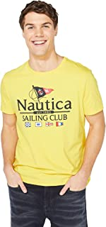 Nautica Men's Short Sleeve Sailing Club Graphic Tee Shirt