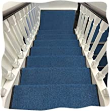 JIAJUAN Thick Stair Carpet Treads Rubber Backing Non-Slip Washable Step Mat, 7 Colors, 5 Sizes, Customize (Color : E-5 pcs...