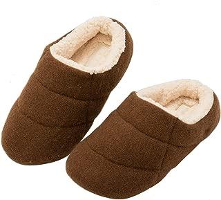 KOCOTA Men's and Women Boiled Wool Clog Slippers with Comfy Fuzzy Fleece Indoor Outdoor Shoes