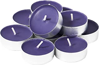 CandleNScent Colored Tea Light Candles | Unscented | Purple | Made in USA (Pack of 30)