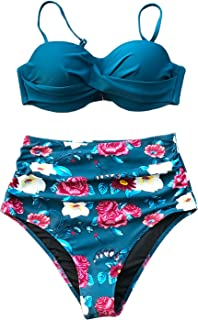 most flattering high waisted bikini