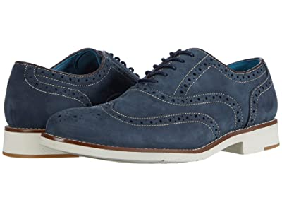 Johnston & Murphy Watkins Wing Tip (Navy Nubuck) Men