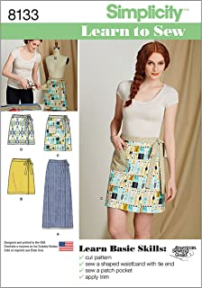 Simplicity 8133 Easy to Sew Women's Wrap Skirt Sewing Patterns, Sizes 6-18