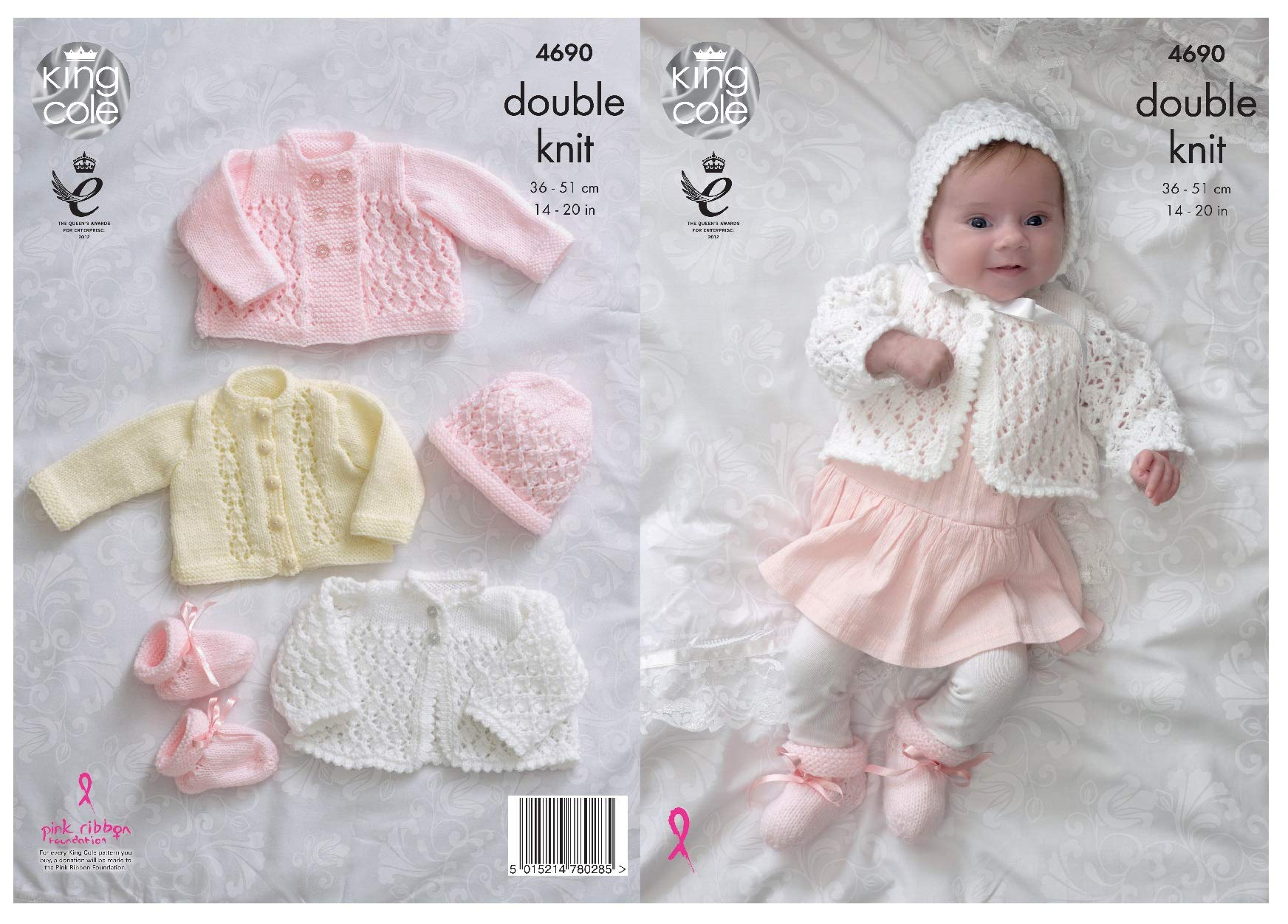 Gorgeous baby girl- dress,jacket mitts hat boots- knitting pattern only-3ply
