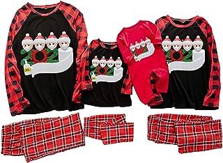 PowerFul-LOT® Family Christmas Pajamas Sets, 2020 Special Theme Printed Top+Pants Xmas Family Matching Pajamas for Women M...