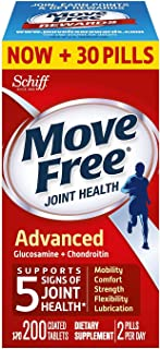 Move Free Advanced Joint Health Supplement Tablets, Move Free (200 Count in a Bottle), 2 Pack