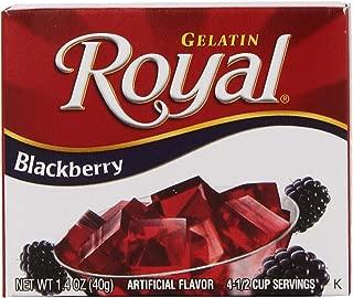 Royal Gelatin, Fat Free Dessert Mix, Blackberry (12 - 1.4 oz Boxes)
