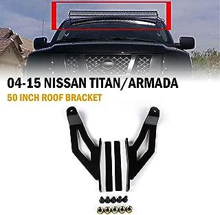 VehiCode 2004-2015 Nissan Titan Armada Driving Light Windshield Roof Mounting Bracket Set for 50 Inch LED Straight Work Light Bar (Fog Pod) (2 Pieces)