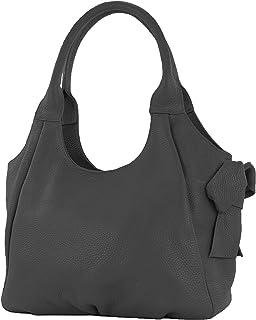 modamoda de - IT28 - ital Damen Schultertasche aus Leder