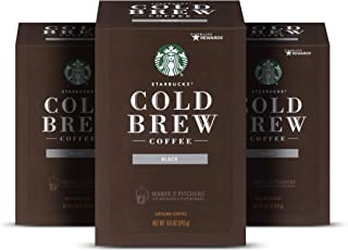 Starbucks Cold Brew Coffee, Medium Roast Coffee, 8.6 Ounce (Pack of 3), 3 boxes makes 6 pitchers