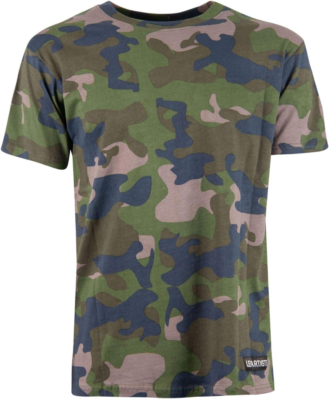 LES (ART)ISTS Men's LA07TEE1024CAMO Green Cotton TShirt