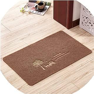 Memoirs- Welcome Doormat Outdoor Carpet Absorbent Bathroom Floor Mats Kitchen Rug Non-Slip Bedroom Carpet Foot Mat Living Room Rug,Camel Tree,80x120cm