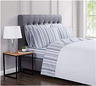 London Fog Luxury Sheet Sets (Carlyle Blue Stripe, Twin)