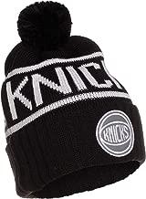 Mitchell /& Ness Detroit Pistons Cuffed Knit Hat with Pom KK40Z