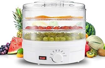 Zerodis Machine Électrique de Déshydrateur D'aliments, Mini-séchoir Transparent pour Fruits, Viande, Bœuf Séché, Friandise...
