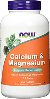 Now Foods Calcium & Magnesium - 250 Tablets (single pack)