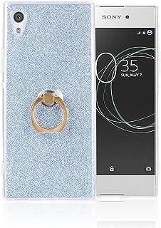XCYYOO Coque pour Sony Xperia XA1 avec Anneau 2 in 1 Bling Brillants Glitter Paillette Ultra Mince Soft Silicone TPU [Tran...