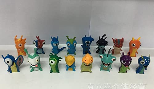 más vendido TL Cute Cute Cute New Movie Cartoon Slugterra Action Figures Toys One Set of 16 PVC Dolls for Gifts by ToyCenter  varios tamaños