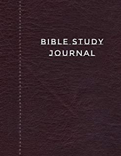 Bible Study Journal: Journaling Notebook Workbook Soft Cover Dark Brown Faux Leather 90 Days To Record Bible Studies 8.5 x 11