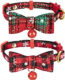 Cat Bow Tie Collar Breakaway Small Dog Collars with Bell